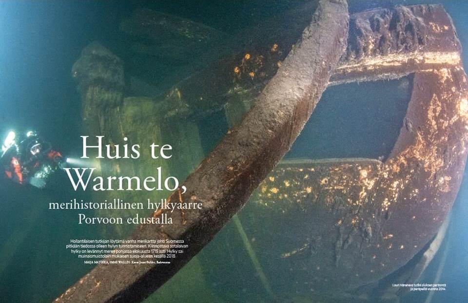 Artikel in Fins tijdschrift Sukeltaja