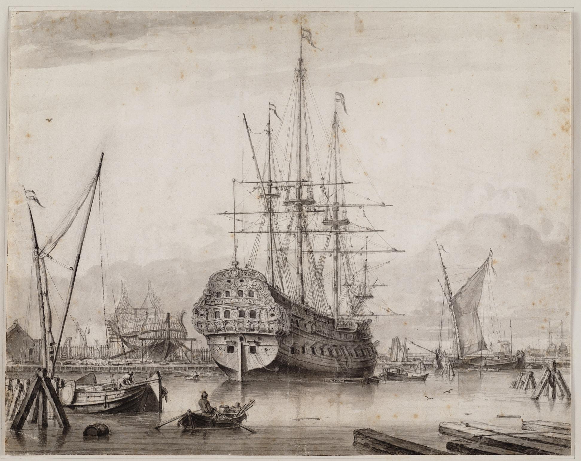 Het oorlogsschip Zantvoort